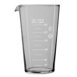 Стакан мерный (мензурка) стеклянный 250 мл - фото 4307
