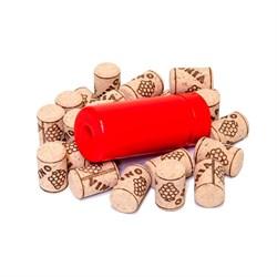 Набор: ручной укупорщик винных бутылок Simplex и 10 агломерированных пробок Ø 24 мм - фото 5486