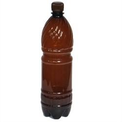 Бутылка пластиковая (ПЭТ) темная с крышкой, 1,5 л