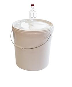 Емкость (бак) для брожения на 20 литров с краном и гидрозатвором