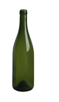 Бутылка винная Бургундия зеленая