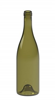 Бутылка винная Бургундия оливкового цвета 750 мл