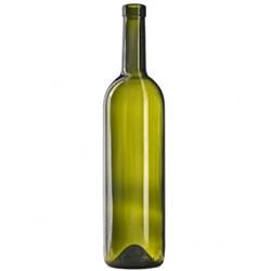 Бутылка винная Бордо оливковая 700 мл