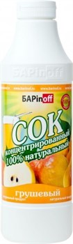 Сок концентрированный грушевый БАРinoff, 1 л