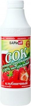 Сок концентрированный клубничный БАРinoff, 1 л