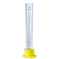 Цилиндр мерный с носиком на пластиковом основании 250 мл