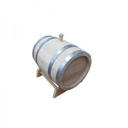 Дубовая бочка на 5 литров с деревянным краном, радиальная клепка