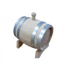 Вощеная дубовая бочка на 5 литров, радиальная клепка