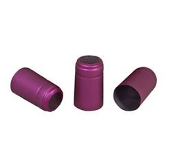 Термоусадочный колпачок для бутылки фиолетовый, 20 шт