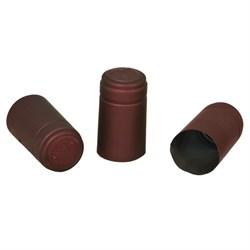 Термоусадочный колпачок для бутылки бордовый, 20 шт.