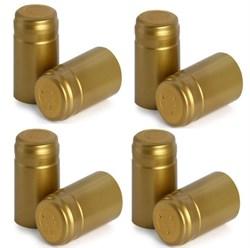 Термоусадочный колпачок для бутылки золотой, 20 шт