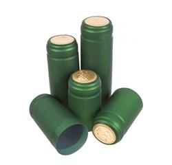 Термоусадочный колпачок для бутылки зеленый, 50 шт
