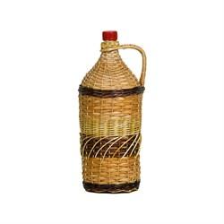 """Бутылка для вина """"Виноград"""" в оплетке, 2 л"""
