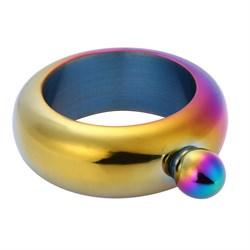 Стальная фляга в виде браслета (colorful)