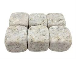 Камни для виски бежевого цвета, 6 штук