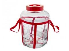 Бутыль (банка) стеклянный универсальный с гидрозатвором 5 литров