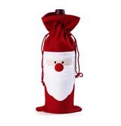 Подарочный мешочек с изображением Санта-Клауса для бутылки вина либо другого алкоголя