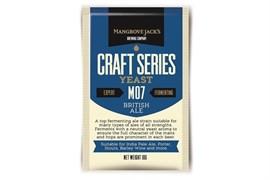Сухие пивные дрожжи Mangrove Jacks - British Ale Yeast M07, 10 гр.