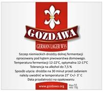Сухие пивные дрожжи Gozdawa German Lager W35, 10 г