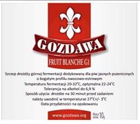 Сухие пивные дрожжи Gozdawa Fruit Blanche G1, 10 г