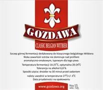 Сухие пивные дрожжи Gozdawa Classic Belgian Witbier, 10 г
