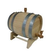 Дубовая бочка на 15 литров (колотый дуб)