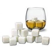 Камни для виски белого цвета, 6 штук