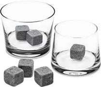 Камни для виски темно - серого цвета, 6 штук
