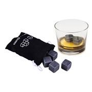 Камни для виски черного цвета, 6 штук