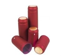 Термоусадочный колпачок для бутылки бордовый с золотым диском, 50 шт