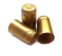 Термоусадочный колпачок для бутылки золотой с пломбой, 50 шт