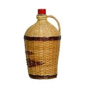 "Бутылка для вина ""Ровоам"" в оплетке (декор), 4,5 л"