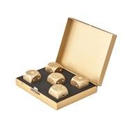 Камни для виски в подарочном футляре (gold)