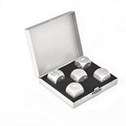 Камни для виски в подарочном футляре (silver)
