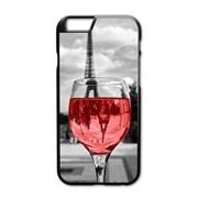 """Стильный чехол для iPhone X """"Эйфелева башня и вино"""""""