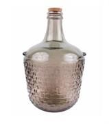 Декоративная бутыль с пробкой коричневая, 12 л