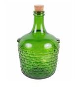 Декоративная бутыль с пробкой зеленая, 4 л