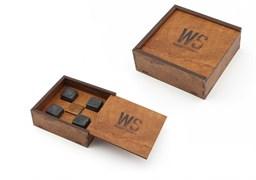 Камни для виски в деревянном футляре, 4 шт